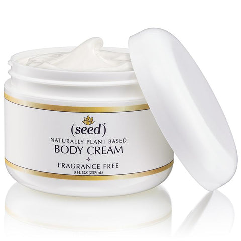 Seed rich body cream is a luxurious body butter moisturizer for dry skin