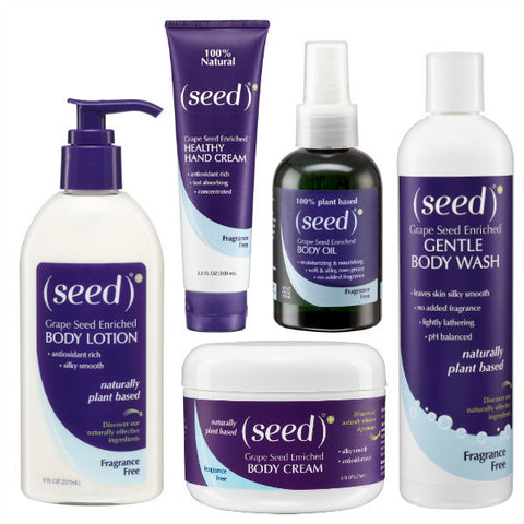 Seed Body Care Fragrance Free bath and body