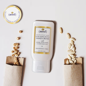 Seed Extra Moisturizing Hand Cream features a proprietary blend of grape, sunflower, and jojoba seed oils