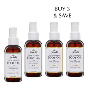 Seed Body Oil Selection, buy 3 and save