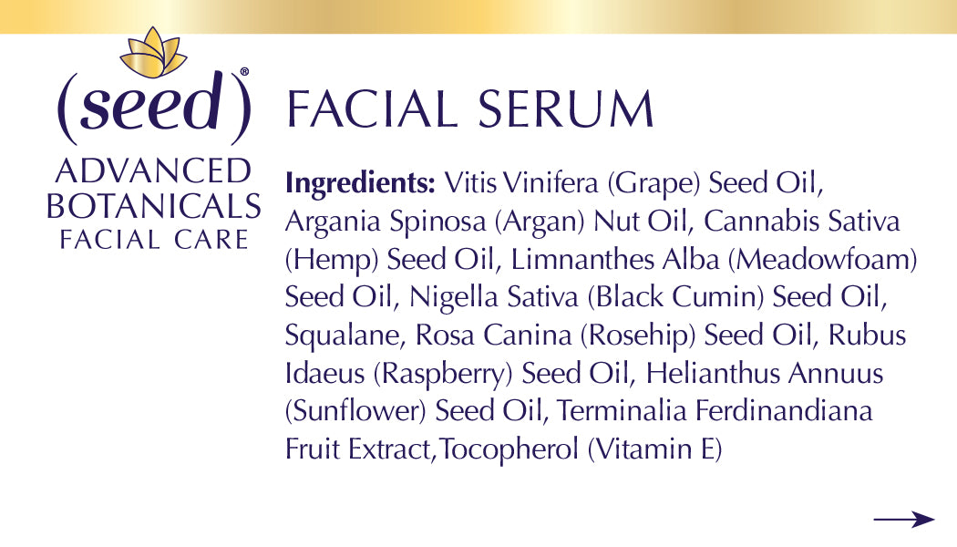 Seed Advanced Botanicals Cream Ingredients