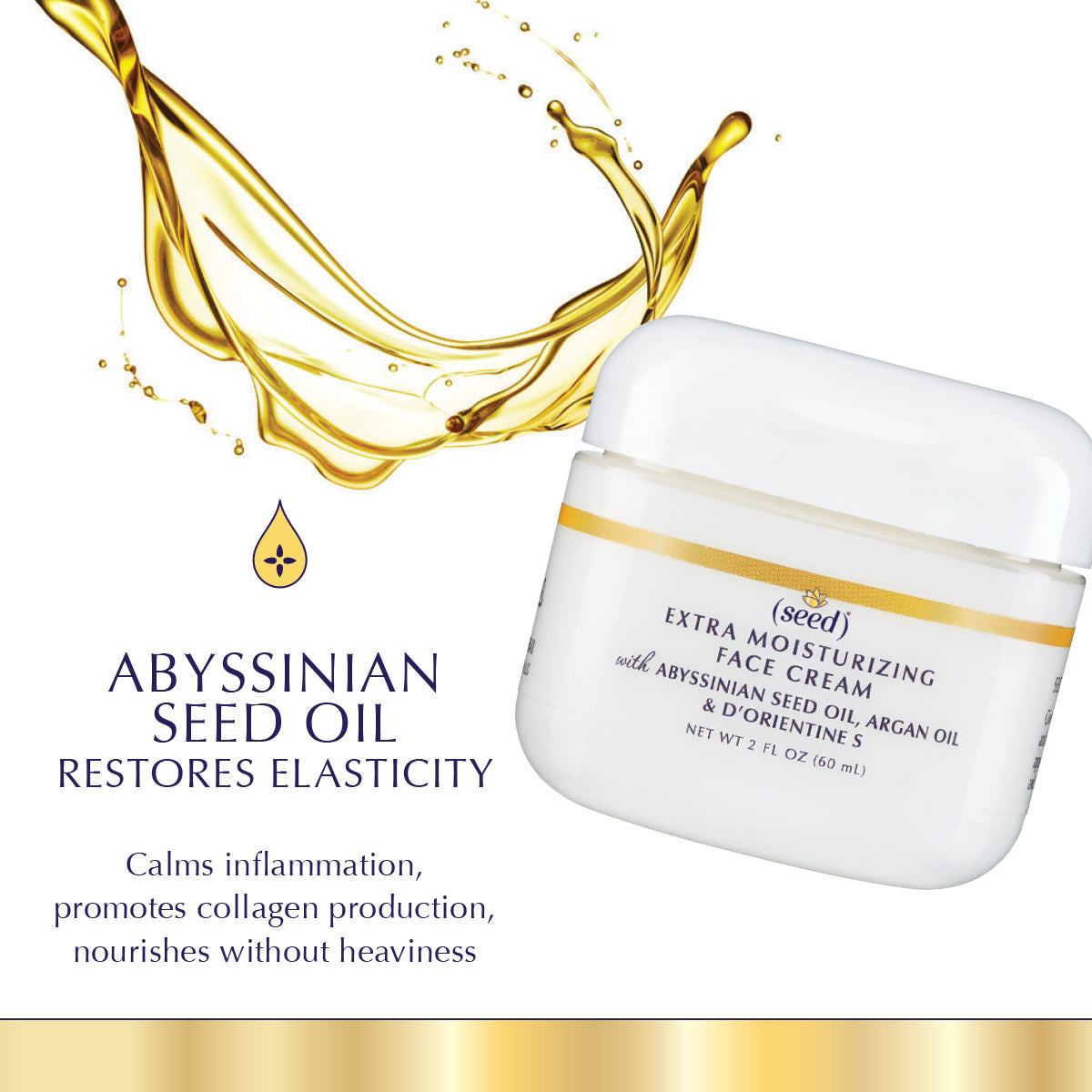 Seed Advanced Botanicals Extra Moisturizing Face Cream features Abyssinian Seed Oil