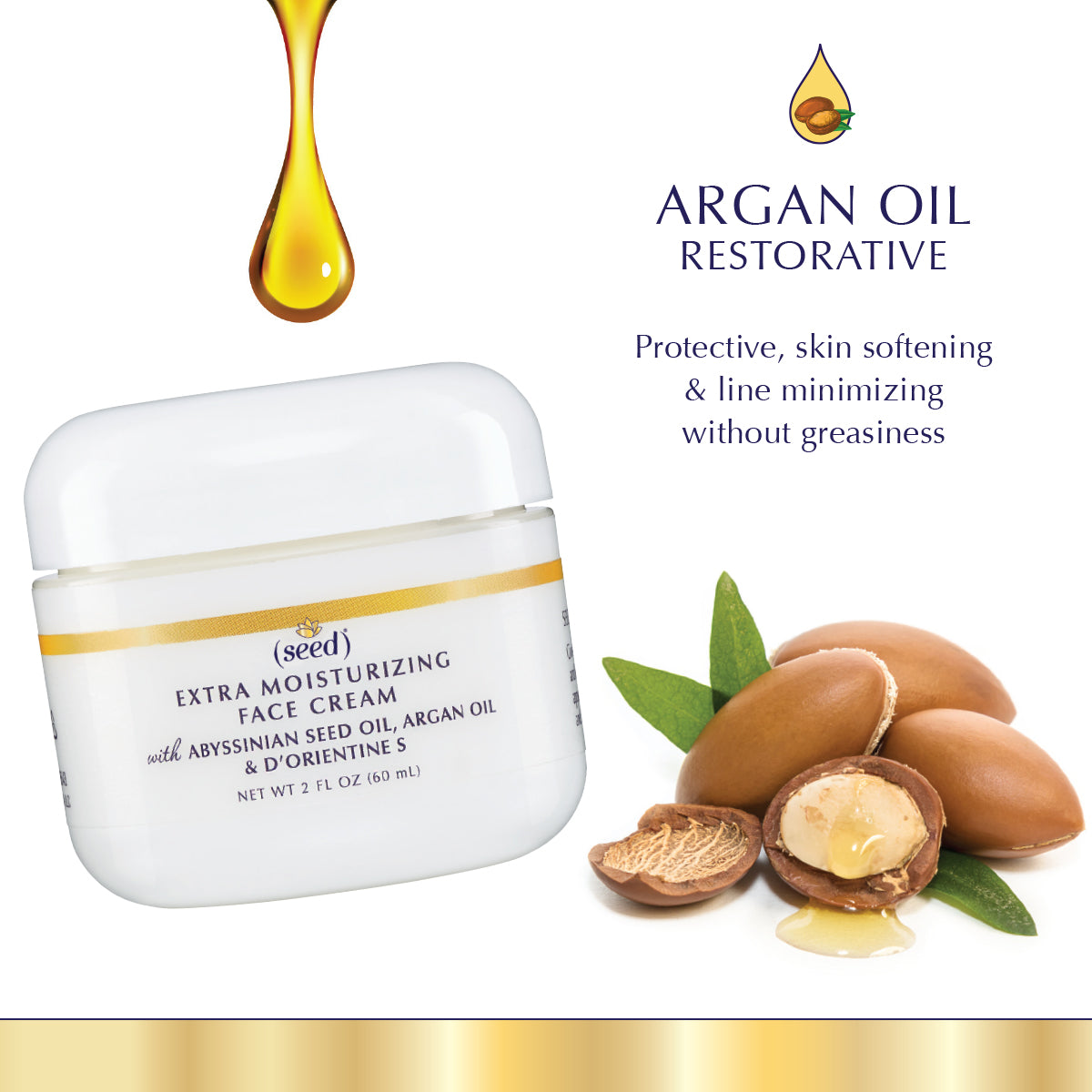 Seed Advanced Botanicals Extra Moisturizing Face Cream features Argan Oil