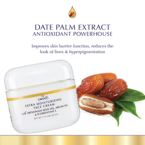 Seed Advanced Botanicals Extra Moisturizing Face Cream features Date Palm Extract