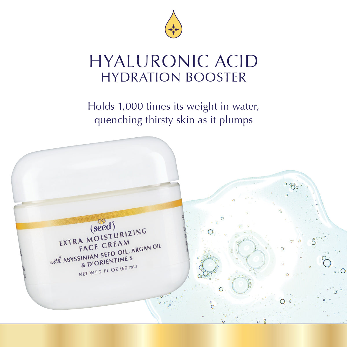 Seed Advanced Botanicals Extra Moisturizing Face Cream features Hyaluronic Acid