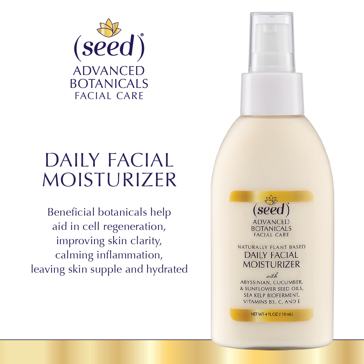 Seed Advanced Botanicals Daily Facial Moisturizer skin care benefits