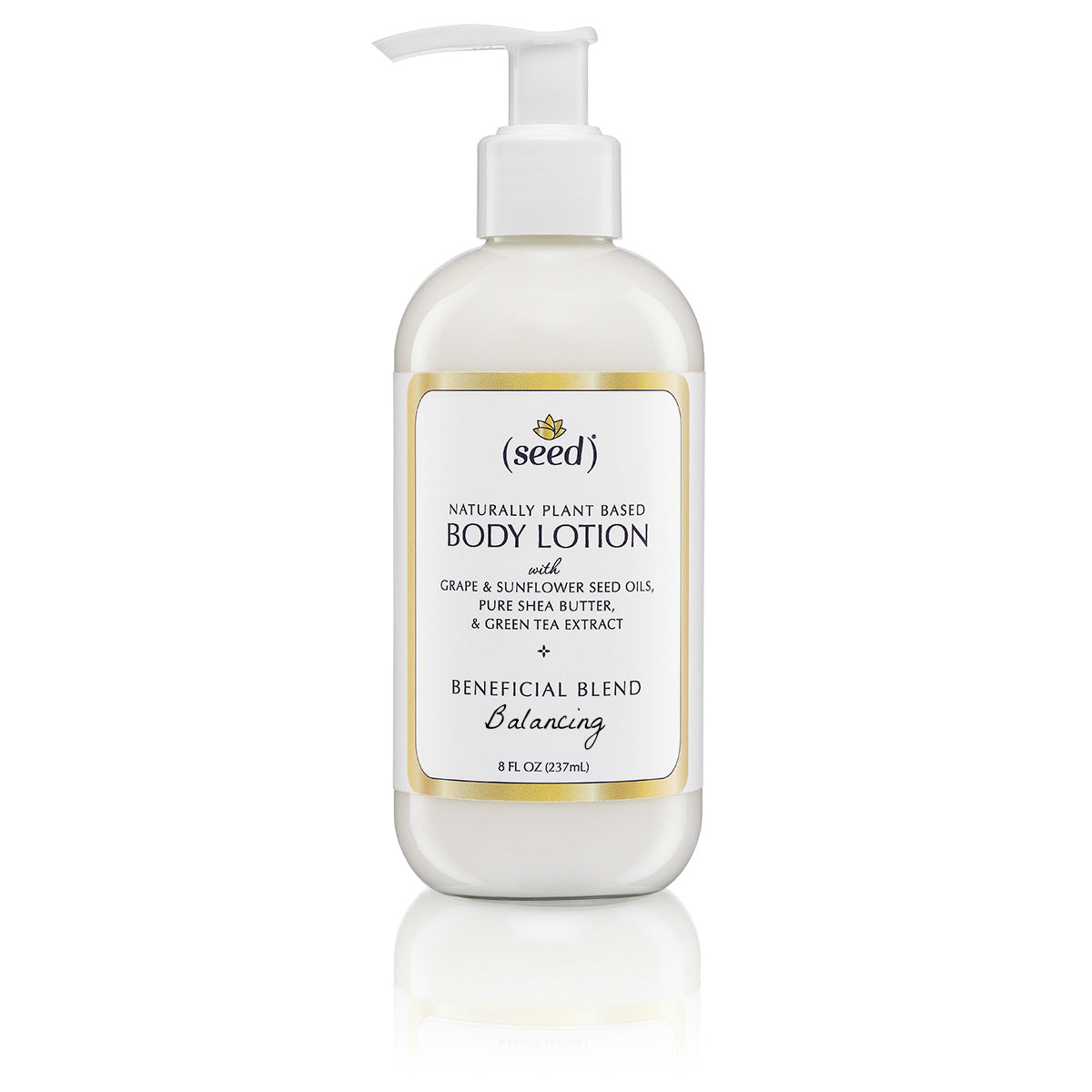 Seed Balancing Blend Body Lotion 8 oz with essential oils of palmarosa, lemon, and coriander