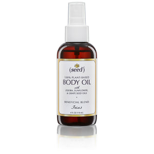 Focus Blend Body Oil features essential oils of rosemary, lemon, and peppermint