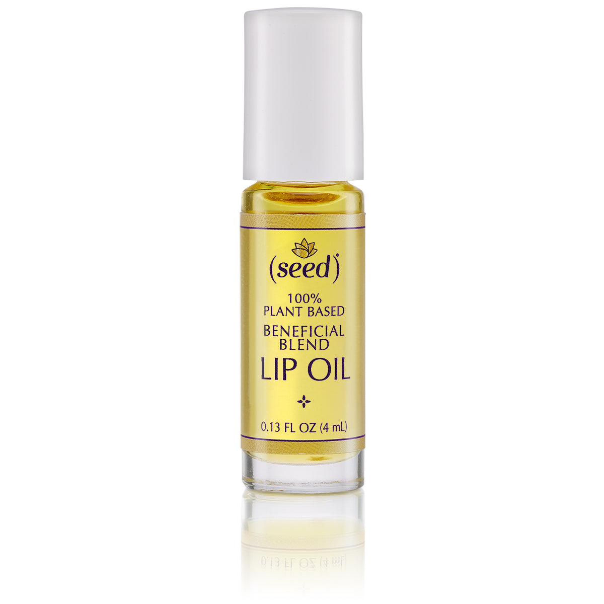 Seed Balancing Blend Lip Oil with palmarosa, lemon, and coriander essential oils