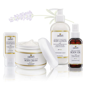Seed Body Care Lavender Deluxe Set Hand Cream Body Cream Body Lotion Body Oil