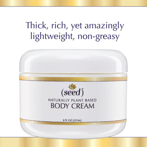 Seed Body Cream is thick rich, yet amazingly lightweight and non-greasy