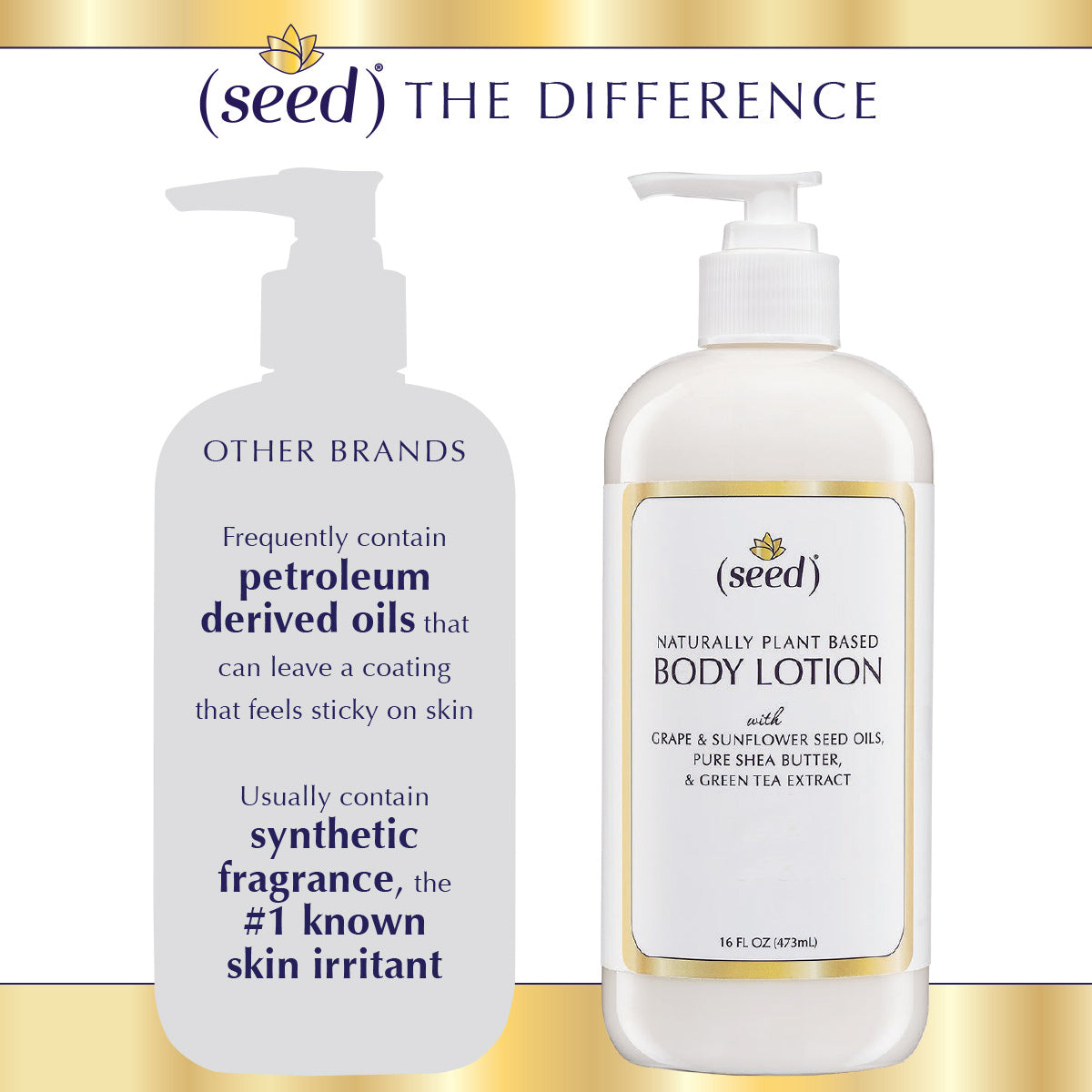 Seed Body Lotion comparison to other brands