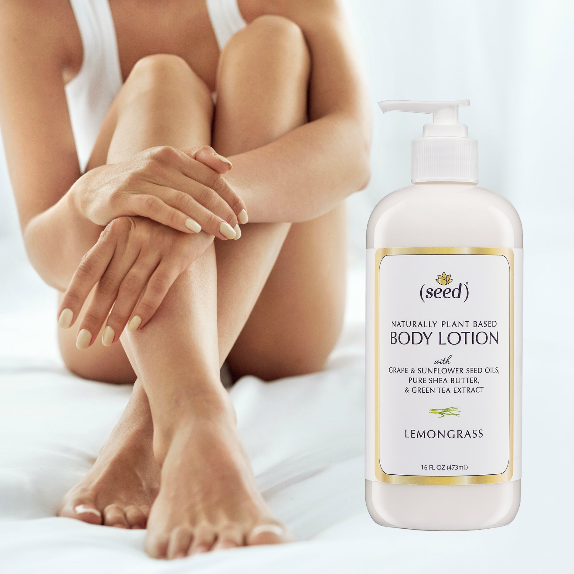 Seed Body Lotion soothes and softens skins all over
