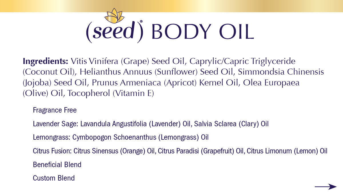 Seed Body Oil ingredients