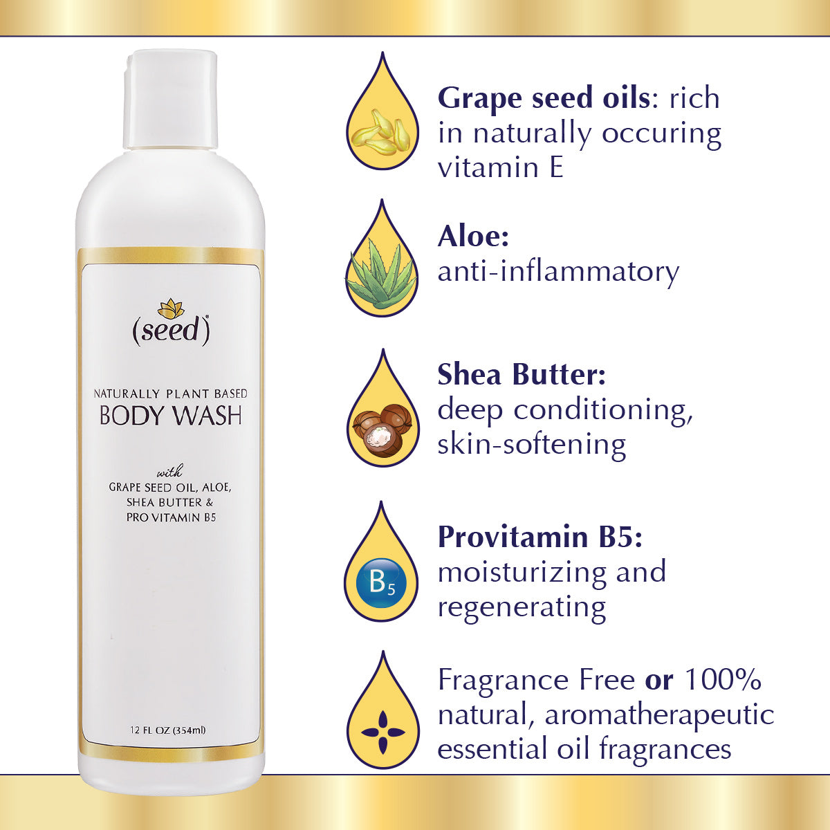 Seed Body Wash ingredient benefits