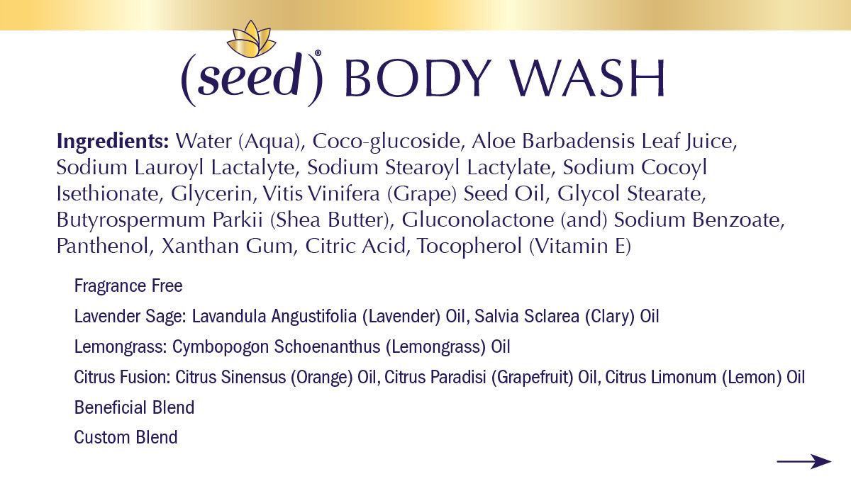 Seed Body Wash ingredients