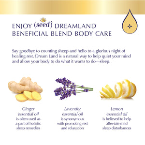 Seed Dream Land Blend Body Care with lemon, lavender, and ginger essential oils
