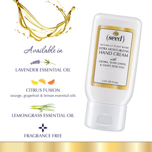 Seed Extra Moisturizing Hand Cream in Fragrance Free, Lavender, Lemongrass or Citrus Fusion