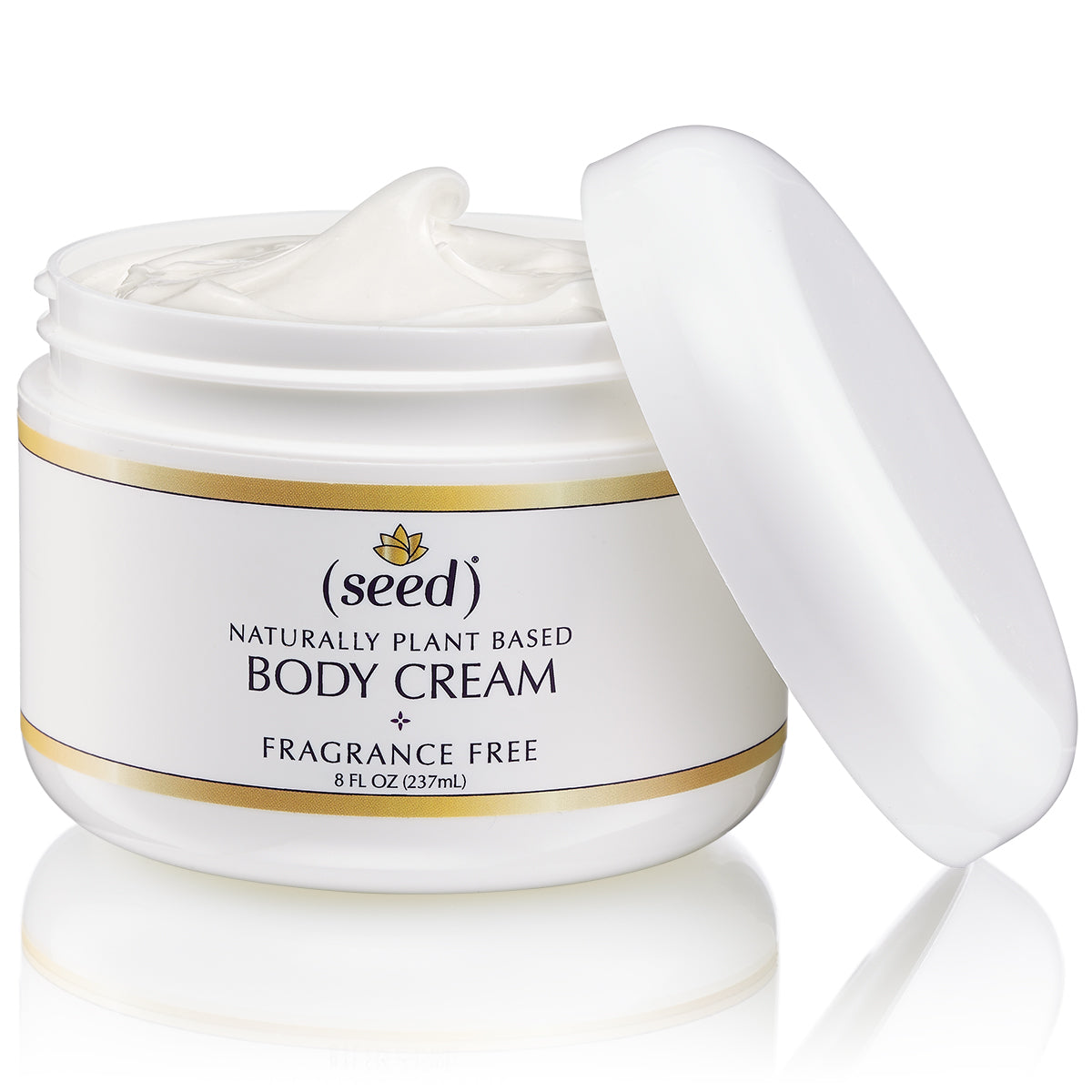 Seed Fragrance Free Body Cream with grape and sunflower seed oils, pure shea butter, and green tea extract