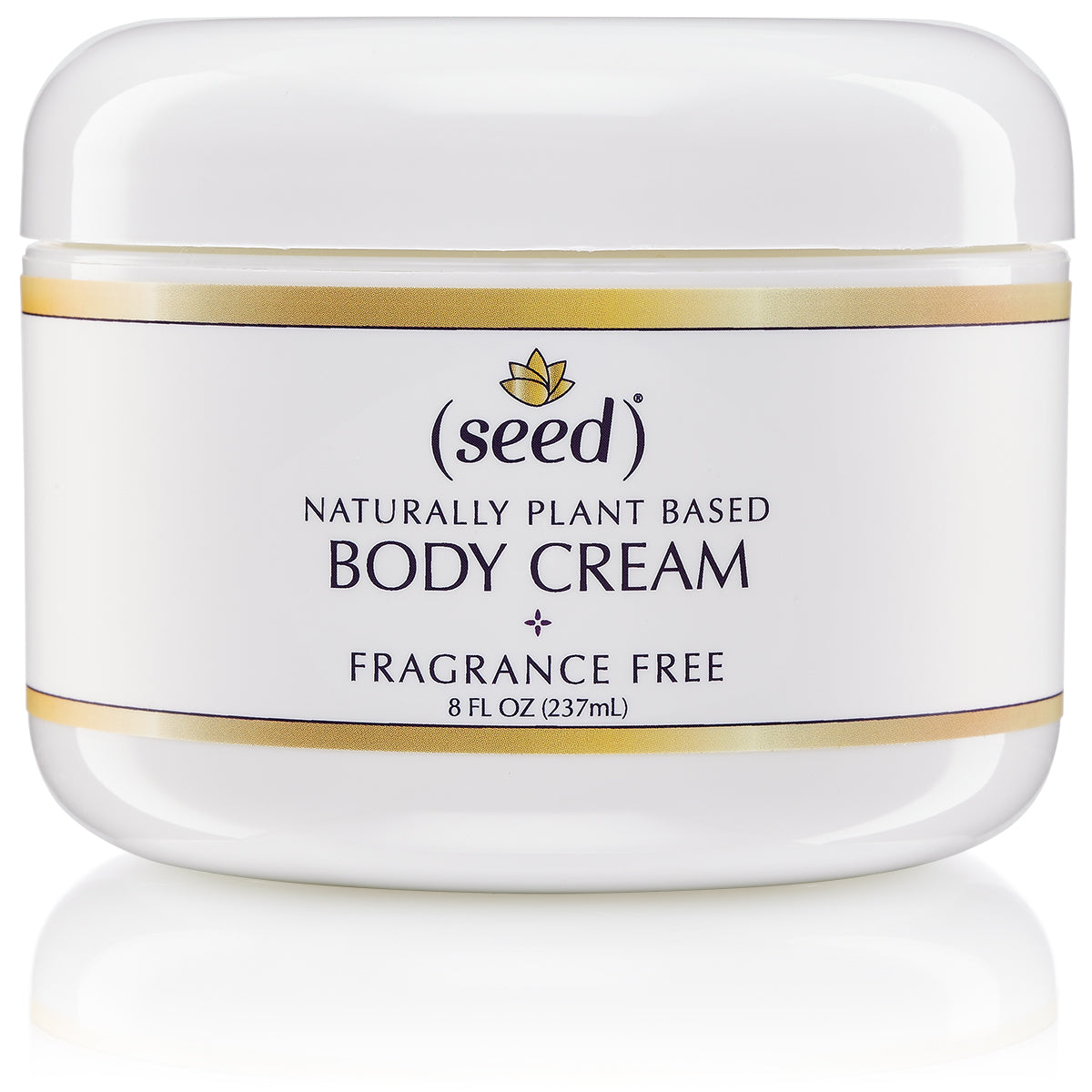 Seed Fragrance Free Silky and Rich Body Cream with grape seed oil, shea butter and green tea extract