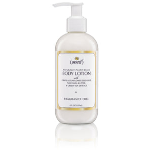 Seed Fragrance Free Body Lotion with Grape and Sunflower Seed Oils, Shea Butter and Green Tea Extract