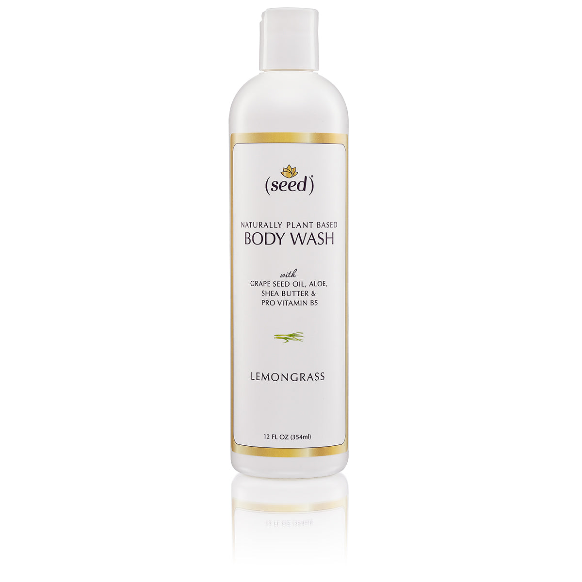 Seed Lemongrass Body Wash features grape seed oil, aloe, shea butter, provitamin b5, and Lemongrass essential oil