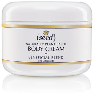 Seed Stress Relief Blend Body Cream features essential oils of lavender, clary sage, and patchouli