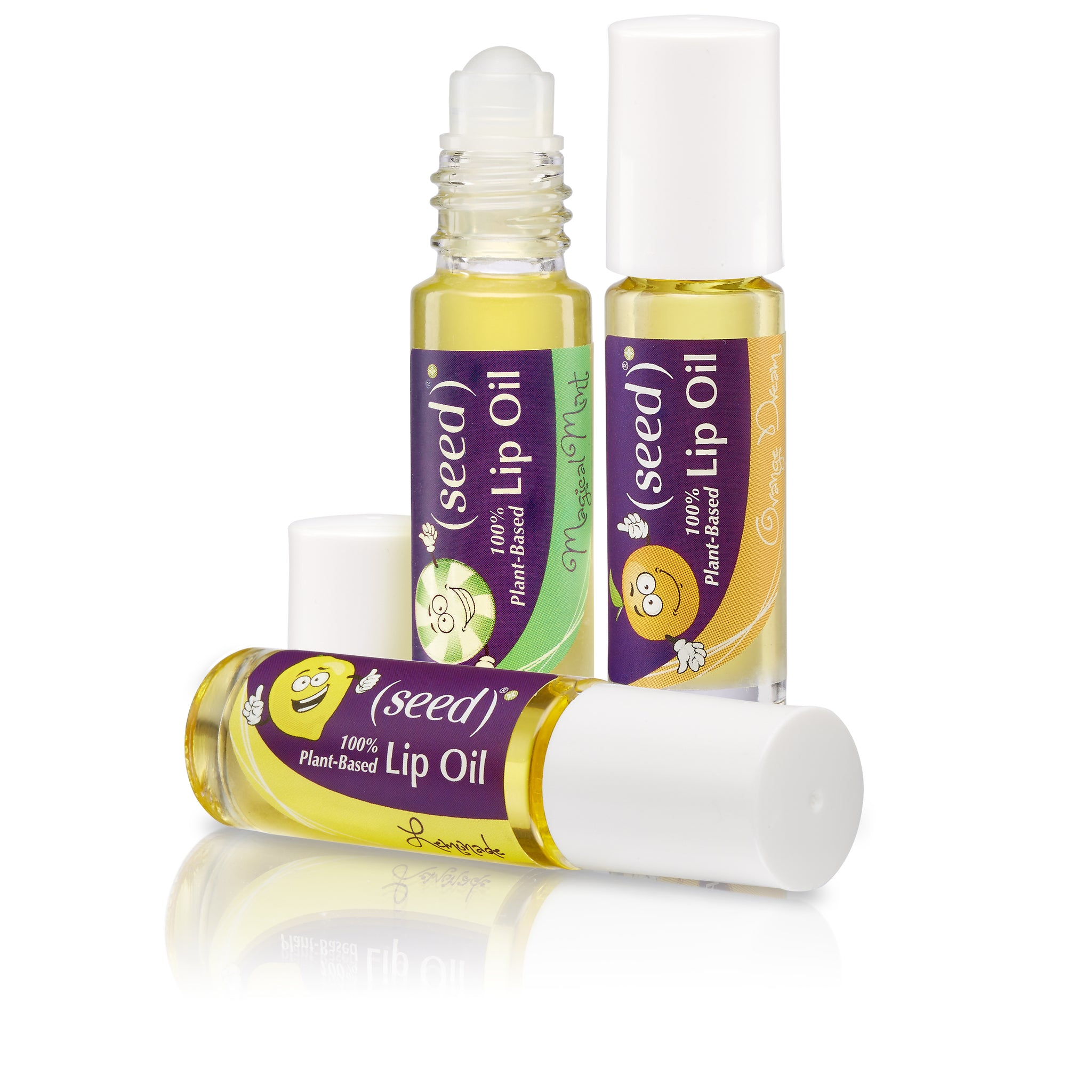 Seed Lip Oils for Kids - Orange Dream, Lemonade, and Magical Mint