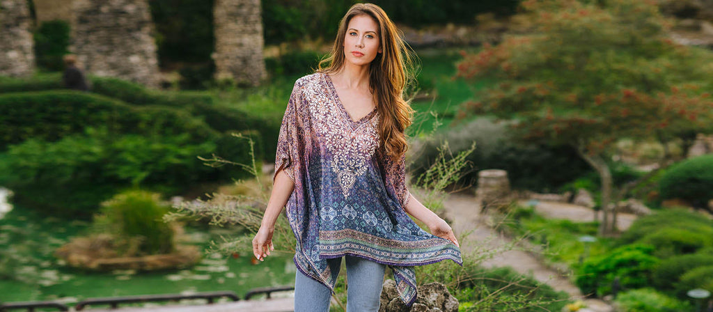 embroidery cotton tunic top