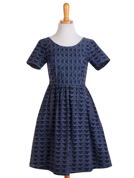 paper doll dress blue