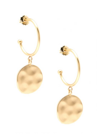 medallion hoop earrings