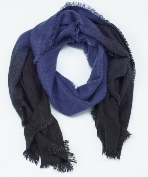 ombre soft scarf blue