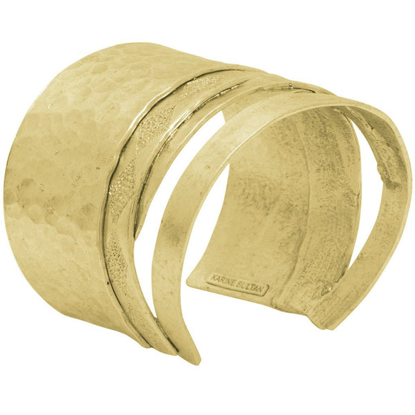 3-Tiered Antique Golden Cuff