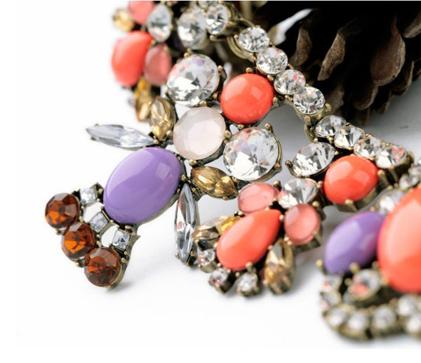 lavender statement necklace zoom
