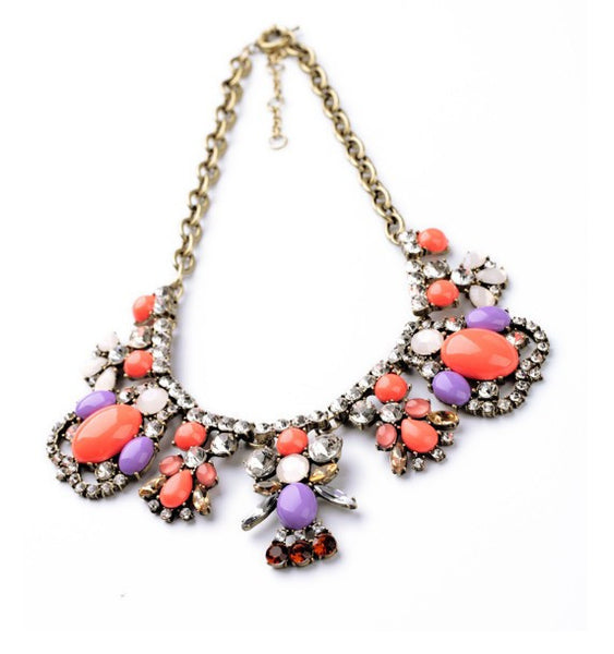 lavender statement necklace h