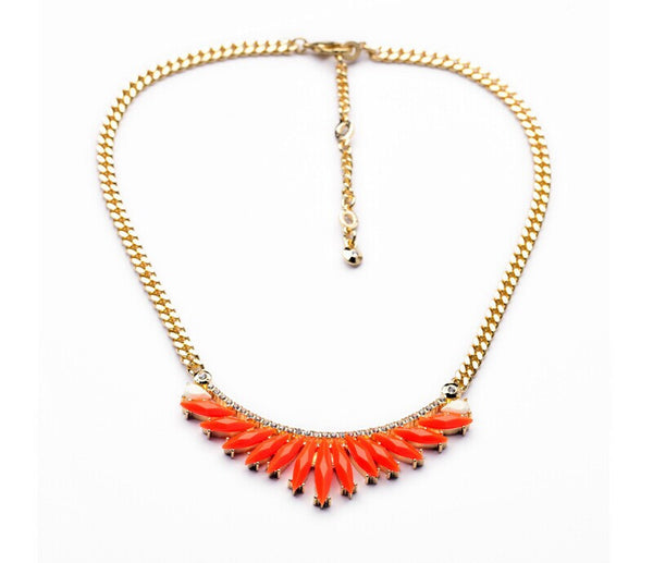 delicate red statement necklace