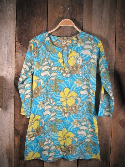 Tunic Turquoise and Yellow