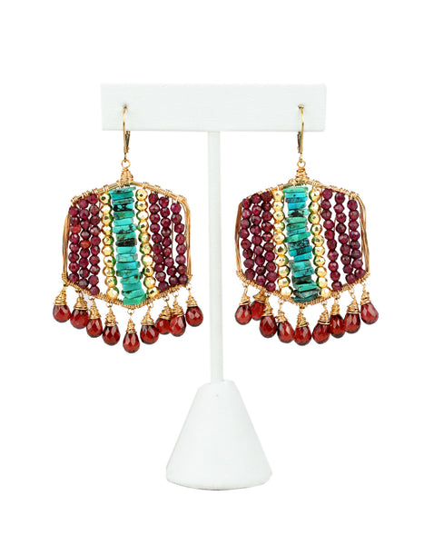 Gwendolyn Garnet Earrings