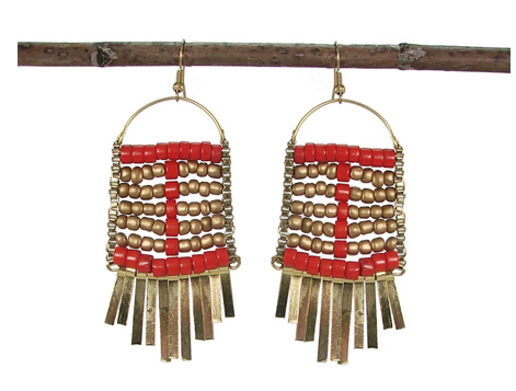 Abacus Earrings Tangerine - Girl Intuitive