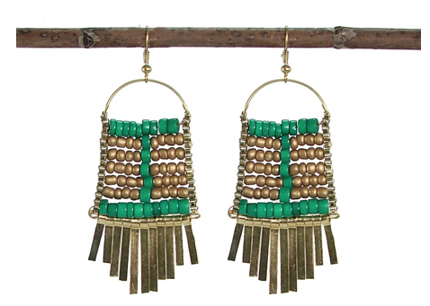 Abacus Earrings Teal - Girl Intuitive