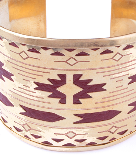 Adobe Leather Cuff Maroon - Girl Intuitive