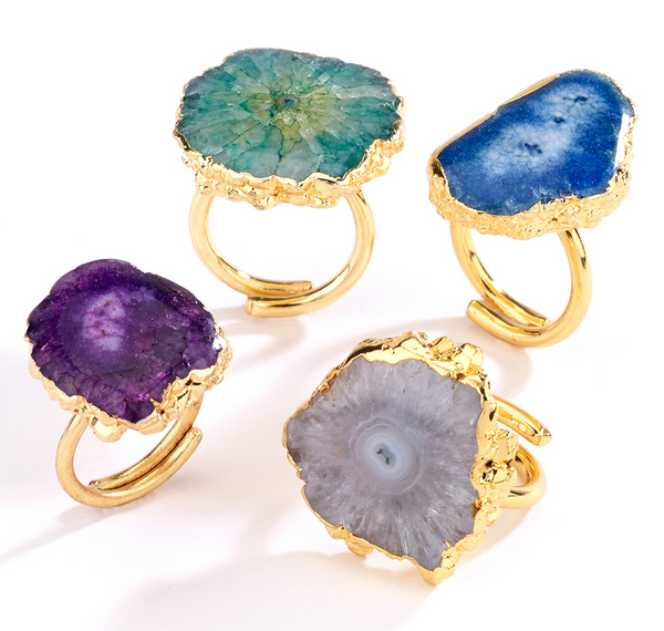 Agate Stone Rings - Girl Intuitive