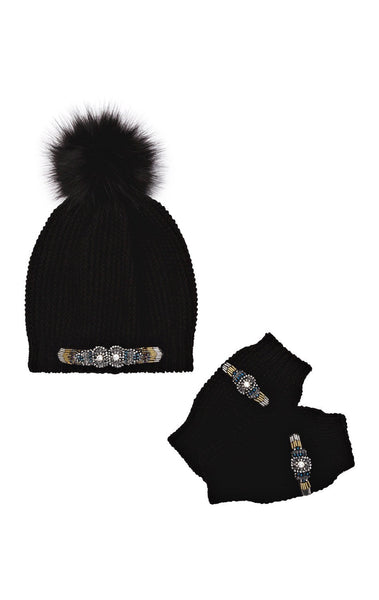 Amenapih Bianca Black Knit Set