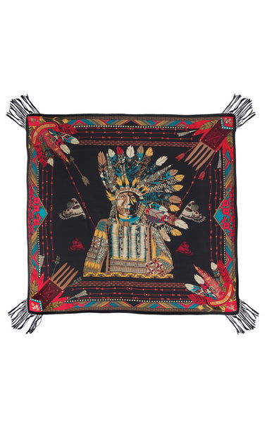 Amenapih Buffalo Black Scarf