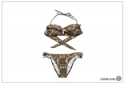 Amenapih Cheri Khaki Swimsuit - Girl Intuitive