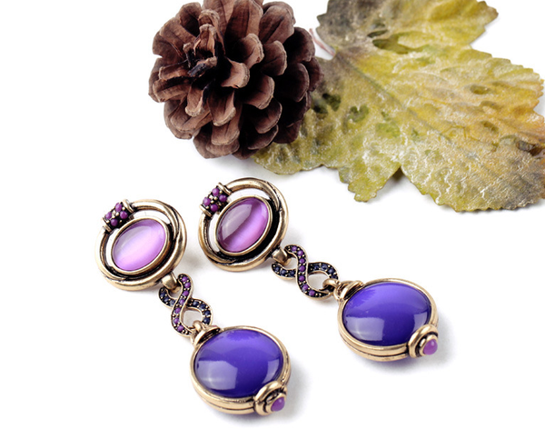 Amethyst Orchid Statement Earrings - Girl Intuitive