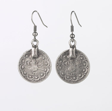 earrings - Ancient Ottoman Coins Dangle Earrings - Girl Intuitive - Island Imports -