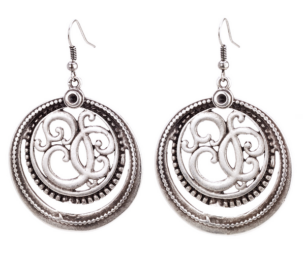 Ancient Scroll Earrings - Girl Intuitive