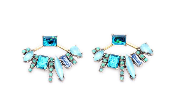 Aqua Glam Ear Jackets - Girl Intuitive