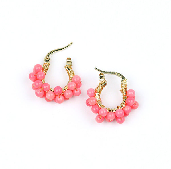 earrings - Wired Corals Hoops - Girl Intuitive - Goia -